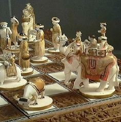 Ivory chess set - antique.