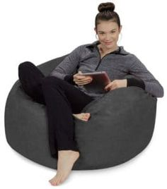 Ultra Soft Bean Bag Chair - Memory Foam Bean Bag Chair with Microsuede Cover The Perfect Chair For Little Kids, Big Kids, and Adults That Are Kids At Heart A retro st Bean Bag Store, Bean Bag Furniture, Furniture Decor, Faux Fur Bean Bag, Cool Bean Bags, Bean Chair, Buy Sofa, Sofa Sofa, Nursery Accessories