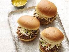Slow-Cooker Georgia Pulled Pork Barbecue recipe from Trisha Yearwood via Food Network Barbecue Recipes, Pork Recipes, Slow Cooker Recipes, Crockpot Recipes, Cooking Recipes, Slow Cooking, Cooking Game, Recipies, Fun Recipes
