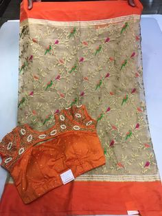 Exclusive Designer Tissue sarees paired with designer blouse Pattu Saree Blouse Designs, Simple Blouse Designs, Stylish Blouse Design, Saree Blouse Patterns, Fancy Blouse Designs, Designer Blouse Patterns, Salwar Designs, Mehndi Designs, Designer Sarees