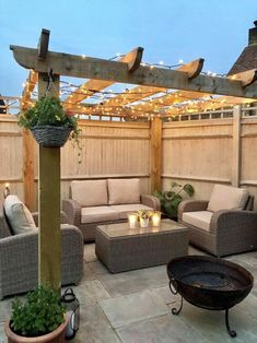 Garden decor inspiration with Moda Furnishings furniture, pergola and fairy ligh. - Garden decor inspiration with Moda Furnishings furniture, pergola and fairy lights Backyard Seating, Backyard Patio Designs, Pergola Designs, Backyard Ideas, Landscaping Ideas, Gazebo Ideas, Outdoor Seating Areas, Seating Area In Garden, Landscaping Around Patio