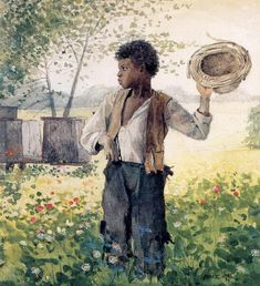 The Busy Bee, 1875 by Winslow Homer on Curiator, the world's biggest collaborative art collection. Bee Painting, Black Art Painting, Watercolor Paintings, Watercolor Ideas, Watercolor Portraits, Watercolours, Art Paintings, African American Art, African Art