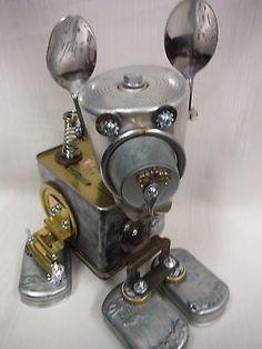 My Doggie Robot Friend Metal Art Sculpture