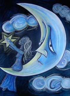 'Luna': Pastel sobre papel