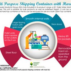 Multi Purpose Shipping Container with Hard Lid Purpose, Infographic, Container, Ship, Infographics, Ships, Visual Schedules