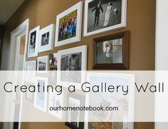 How to create a family gallery wall. Tips for putting it together and adding to … – Furnishing Tips Photo Gallery Hallway, Hallway Pictures, Gallery Wall, Hallway Lamp, Hallway Furniture, Hallway Decorating, Interior Decorating, Room Scents, Create A Family