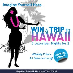 Enter to win a luxurious trip for 2 to Hawaii! Enter now! #SmartGPS #Hawaii