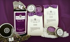 Groupon - $29 for a Talbott Teas Spa Set with a Green-Tea Blend, Soy Candles, and Bath Crystals ($60 List Price) in Online Deal. Groupon deal price: $29.00 Bath Candles, Soy Wax Candles, Bath Crystals, Organic Green Tea, Lavender Scent, Tea Blends, Teas, Cool Things To Buy, Gifts