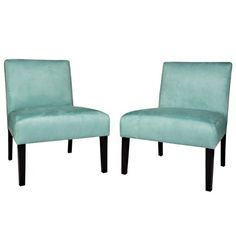 Add a splash of color to your living room, bedroom, or office with the chic Nate Chair. Finished in refreshing turquoise, this inviting design showcases a streamlined silhouette, bold espresso-finished legs, and plush, comfortable cushions.