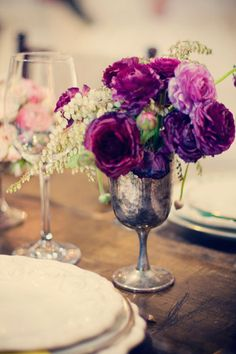 Purple and Pewter... simple and pretty