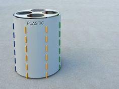 Caixote do lixo em aço para coleta seletiva BUD by CITYSI design GIBILLERO design