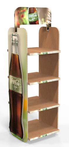 Floor Stand Display for Coca Cola Life Pos Display, Wine Display, Display Design, Display Shelves, Display Stands, Cardboard Design, Cardboard Display, Point Of Purchase, Point Of Sale
