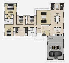 Duet 4 bedroom house plan Landmark Homes builders NZ | House Plans ...