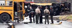 The scene of an accident involving two school buses in Knoxville, Tenn., on Dec. 2 (Michael Patrick/Knoxville News Sentinel/AP)