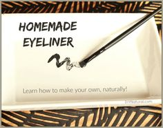 Learn how to make eyeliner so you can control the ingredients and ensure they are natural. We examine reasons to make your own and offer two DIY eyeliner recipes. Natural Eyeliner, All Natural Makeup, Natural Beauty, Natural Skin, Homemade Eyeliner, Diy Beauty Makeup, Beauty Tips, Beauty Full, Eyeliner For Beginners