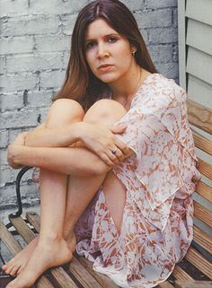 Carrie Fisher at her home in New York City in 1977.