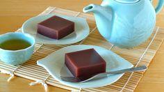 Create Eat Happy :): How to Make Mizu-Yokan (Japanese Soft Azuki Bean Jelly) - Video Recipe