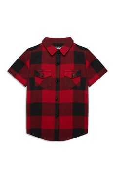Primark - Younger Boy Red And Black Check Shirt