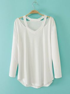 Korean Knit Cotton T-shirt with Long Sleeves