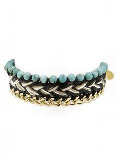 Woven Turquoise Beaded Bracelet