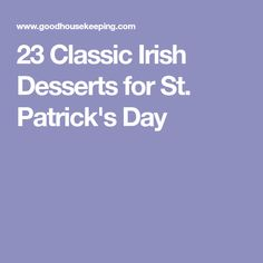 23 Classic Irish Desserts for St. Patrick's Day
