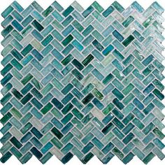 Me: Colour and tile ideas for bathroom(s) though not a huge fan of herringbone pattern OP: Seaside Herringbone Blue Pool Glossy Glass - kitchen tile - Glass Tile Oasis Bathroom Floor Tiles, Kitchen Backsplash, Backsplash Ideas, Wall Tiles, Mosaic Glass, Mosaic Tiles, Mosaic Backsplash, Glass Tiles, Tiling