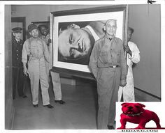 1946 F.D.R.'s picture is removed from City Hall Los Angeles California