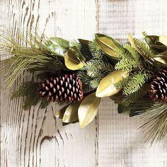 Pine & Magnolia Garland   - Ballard Designs