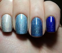 Inspiring picture blue, esmalte, gamei nessa unha, holographic, nail polish, nails. Resolution: 500x374 px. Find the picture to your taste!