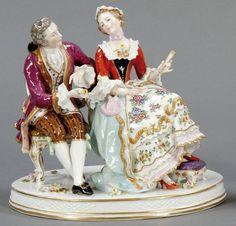 Galantes Paar  Gebr. Voigt Porzellanmanufaktur und Alfred Voigt AG, ab 1918.