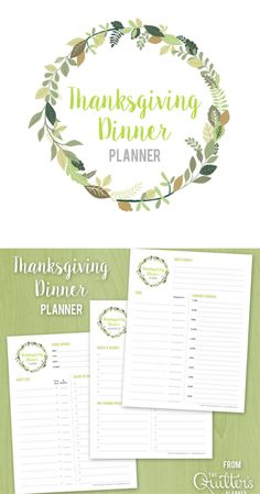 Need help organizing your Thanksgiving dinner plans? Download the free Thanksgiving Dinner planner PDF, and make your life easier! Printable Planner, Printables, Dinner Planner, Dinner Recipes, Thanksgiving, Pdf, Make It Yourself, How To Plan, Organizing