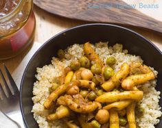 curried yellow beans