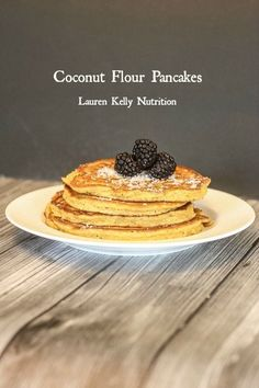 Coconut Flour Pancakes - Lauren Kelly Nutrition Ingredients 2 Whole eggs and 2 egg whites 3 Tablespoons melted coconut oil (or you can use melted butter) 3 Tablespoons coconut milk (or reduced fat or whole milk) 3 tablespoons maple syrup 1 tsp sea salt 3 (crepe ingredients coconut oil)