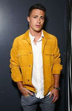 Colton backstage at Billy Reid for New York Fashion Week