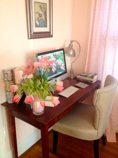 The Pink Home: Pink flowers in a pink vase in a pink room...