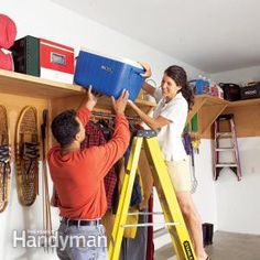 Garage Storage Ideas: Find Unused Space The average garage has more than 150 sq. ft. of unused storage space.