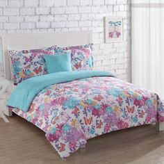 17 Essentials Butterfly Winds Comforter Set in White - BedBathandBeyond.com