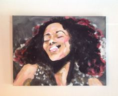 Giovanca. Dutch singer-songwriter jazz & soul. Acrylic painting on canvas.