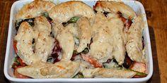 Kylling i fad med rodfrugter og parmesan