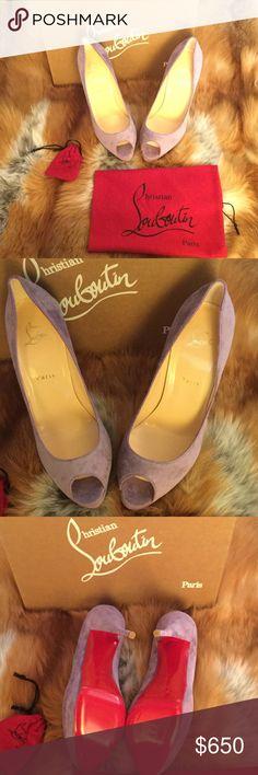 Spotted while shopping on Poshmark: Never worn lavender Cristian Louboutins! #poshmark #fashion #shopping #style #Christian Louboutin #Shoes