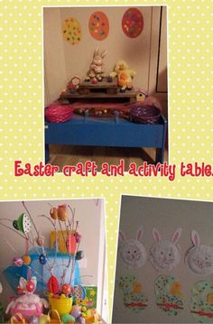 Tani created this Easter interest area for the children at Tiny Steps FDC