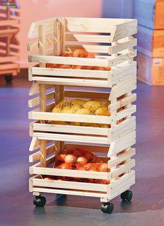 Rozkládací dřevěné boxy Fruits 60100400