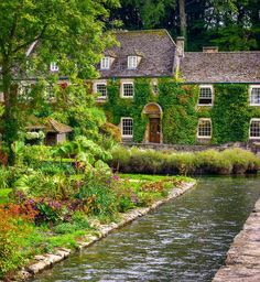 Beautiful Bibury in the Cotswolds of England.