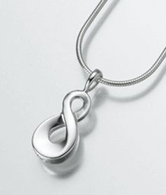 Infinity Cremation Jewelry Urn Pendant - Store a portion of cremation ashes, burial soil, or dried ceremonial flowers within the pendant.