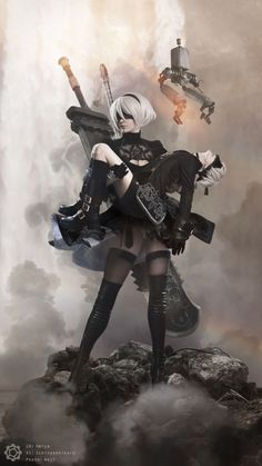 Here are two Chinese cosplayers—Omiya (2B) and Ichinosehikaru (9S)—going absolutely nuts with their Nier: Automata cosplay partnership.
