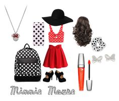 """Minnie Mouse"" by ellalynnaireruth ❤ liked on Polyvore"