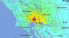 A strong magnitude 6 earthquake rocked the San Francisco Bay Area early Sunday morning, centered in the Napa County town of American Canyon, injuring over 170 people, severely damaging historic buildings in downtown Napa, rupturing ga. California Love, Northern California, American Canyon, Kids Sites, Sierra Nevada, Extreme Weather, Napa Valley, Natural Disasters, Science And Nature