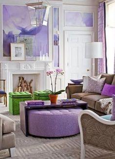 See more ideas about Attractive Purple Interior Design 22 Modern Interior Design Ideas With Purple Color Cool Interior SL Home Interior Design Salons Violet, Urban Deco, Living Room Designs, Living Spaces, Living Area, Living Rooms, Purple Rooms, Purple Walls, Bedroom Ideas