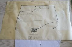 drafting a pocket stay or tummy-tuck panel