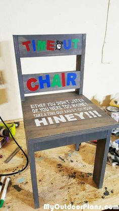 DIY Child's Time-Out Chair More